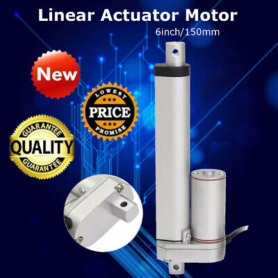 6 inch DC 12V 900N Linear Actuator Motor Electric Aluminum Industry Heavy Duty