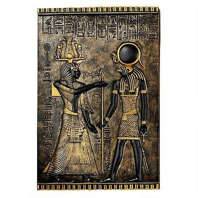 Egyptian God Horus Relief Frieze Plaque Wall Sculpture Replica Reproduction