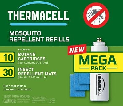 Thermacell RR10 Mega Mosquito Bug Repellent Butane Refill Cartridges
