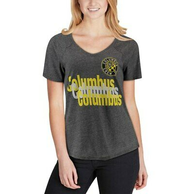 the latest d5607 3d8bb Mitchell   Ness Columbus Crew SC Women s Black Repeat Tri-Blend V-Neck T