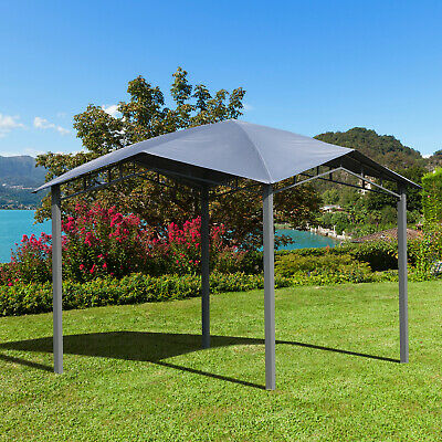 Outsunny 3x3(m) Outdoor Patio Gazebo Pavilion Canopy Tent Steel Frame Grey