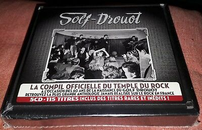Neuf Scelle Coffret 5 Cd Golf Drouot Le Temple Du Rock Inclus Johnny Hallyday