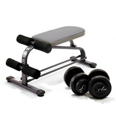Marcy SB410 Flat & Ab Weight Bench With 18kg Dumbbell Bar Set