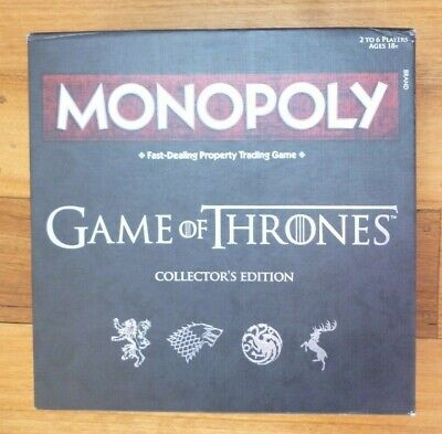 MONOPOLY - GAME OF THRONES Edition  VGC Complete 2017