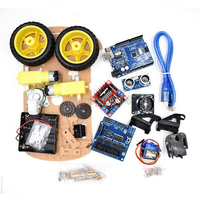 Smart Car Tracking Motor Smart Robot Car Chassis Kit 2WD Ultrasonic Arduino MCU