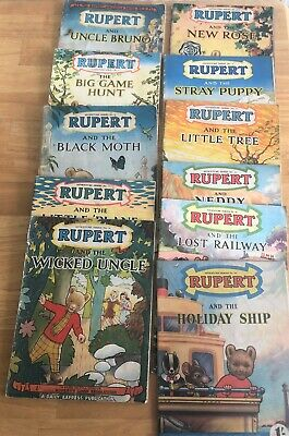 RUPERT Adventure Series x 11 issues 1940's and 1950's Mixed Condition