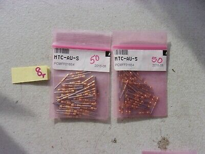 Lot Of 100 New Omega Male Pin Thermocouple Contacts Mtc-Au-S (333)