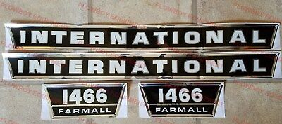 New Hood & Side Panel Decal Set for IH 1466 Tractor International Farmall Decals