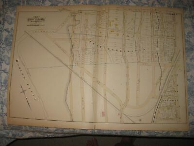 Antique 1882 23Rd Ward West Morrisania South Melrose Bronx New York City Map Nr