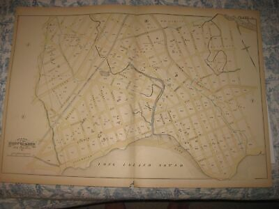 Antique 1882 23Rd Ward Hunts Point Bronx New York City Handcolored Map Superb Nr
