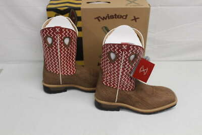 2cd85508e97 TWISTED X MEN'S 14 EE Lite Cowboy Work Boot Distressed Saddle/Cherry MLCW001