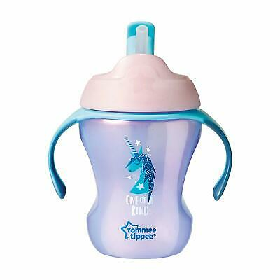 Tommee Tippee Trainer Straw Cup 7 Months+, Purple (Colours May Vary)