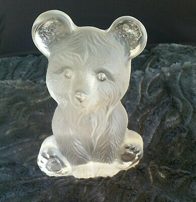 DALZELL Heavy Crystal Brown Bear Sculpture.