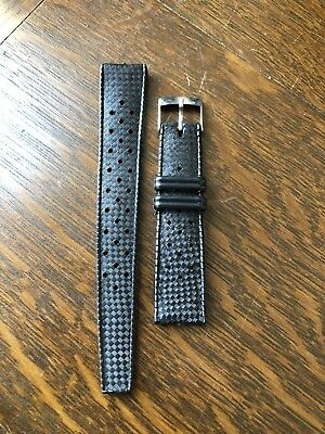 Vintage Nos Diver's Watch Rubber Strap 19mm Perforated (1960/70s) Tropic Style