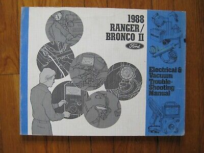 1988 ford ranger bronco ii 2 electrical wiring diagram vacuum manual