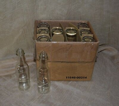 Lot Of 10 Woozy Glass Hot Sauce Bottles 5 Ounces New No Tops