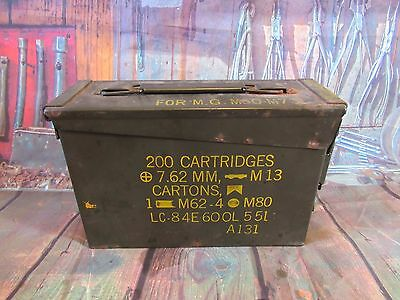 Ammo Can Box US Army Military M62-4 7.62mm M13 Cartons Ammo Metal M80 (A019)