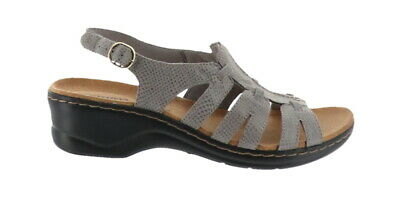 99c4260270c Clarks Bendables Lexi Marigold Leather Sandals Grey Snake 9N NEW A212296