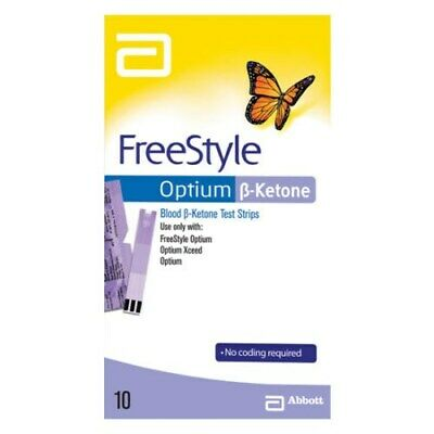 Freestyle Optium Blood ß Ketone 10 Test Strips No Coding Required Neo Xceed