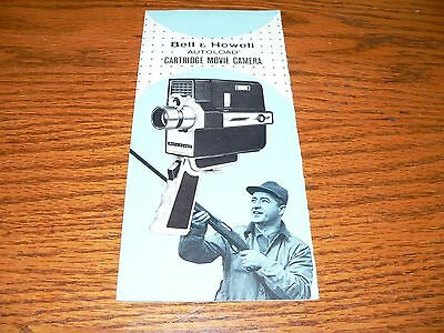 Vintage Bell & Howell Autoload Cartridge Movie Camera Brochure~Excellent Cond.