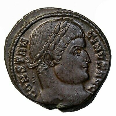 Constantine I The Great 323-324 AD AE Reduced Follis Ancient Roman Coin RIC.429