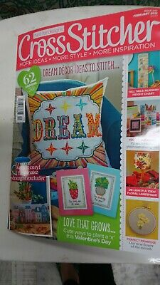 Cross Stitcher Magazine Issue 340 February 2019 brand new sealed with gift