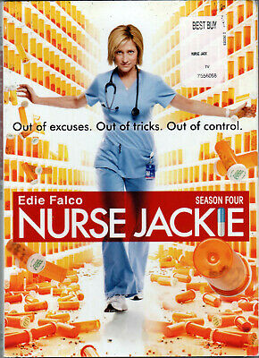 NURSE JACKIE The SEASON FOUR Fourth 4 on 3 DISC of MEDICAL TV SHOW Series COMEDY