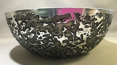 Don Sheil Signed Luna Pattern Large Bowl - 8Cm H, 22Cm W, 439G - No Longer Made