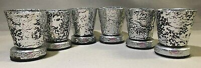6 X Don Sheil Signed Luna Pattern Cups On Stands - 5.5Cm H, 4.3Cm W, 67G Each