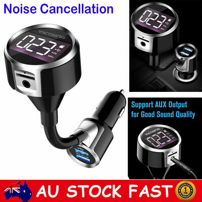 Hands-free Wireless Bluetooth FM Transmitter Car Kit AUX MP3 Player USB Charger
