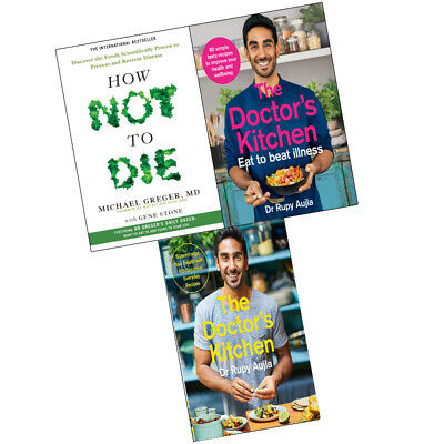 Doctor's Kitchen- Eat to Beat Illness,How Not To Die, 3 Books Collection Set NEW