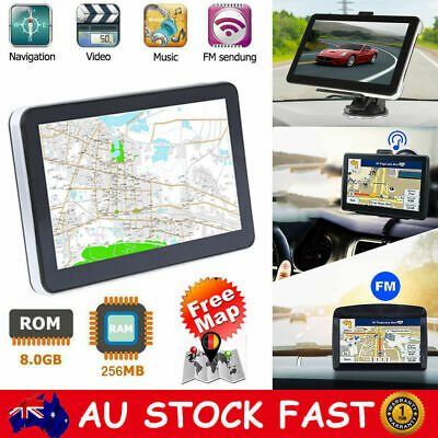 "7"" Touch Car Truck GPS Navigator 8GB 256MB Navigation System Sat Nav Free AU Map"