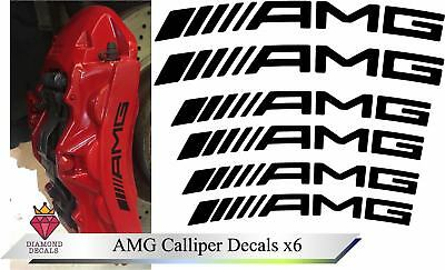 Mercedes AMG Brake Calliper Decal High Temp Vinyl Stickers C63 Any Colour x6