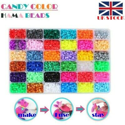 New Hama Beads Fuse Beads Refill 10/15/24/36/48 SEPARATE HOT COLORS VALUE Pack