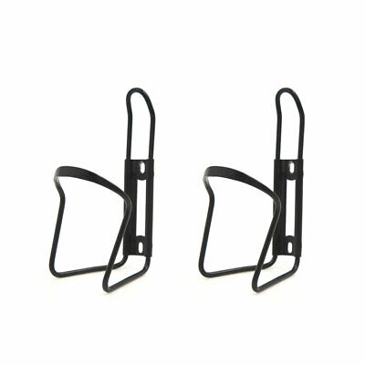 2Pcs Universal Metal Water Bottle Bracket Holder Container Black for Bicycle