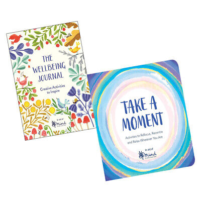 MIND 2 Books Collection Set Wellbeing Journal,Take a Moment (Wellbeing Guides)