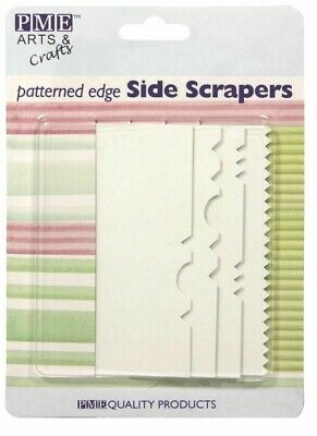 PME Set of 4 Cake Decorating Icing & Buttercream Side Edge Patterned Scrapers