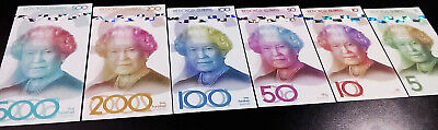 REDONDA ISLAND 6 Pcs Set 5 10 50 100 200 500 Pounds 2019 Unc