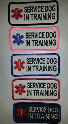 U-Pick Colors Embroidered Sew-On Dog Patch - SERVICE DOG IN TRAINING
