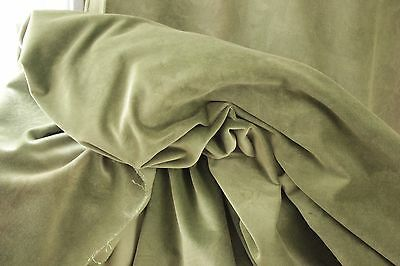 Fabric Green Crushed Velvet Antique French Patterned Ground 1900 4 yards textile