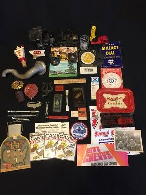 Mens Junk Desk Drawer Lot Of Collectibles Paper Music Auto Bar Pencil Sharp Misc