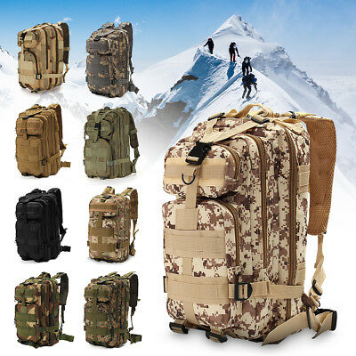 30L 3P Outdoor Military Tactical Backpack Rucksacks Camping Hiking Trekking Bag