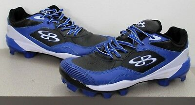 dd94cd48c NEW BOOMBAH BLACK Molded Baseball Softball Cleat Shoes Size 6 ...