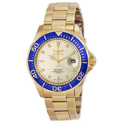 Invicta Pro Diver Light Champagne Dial Gold Ion-plated Men's Watch 14124
