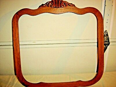 Antique Chestnut Mirror Frame Applied Carving  Shaped  159