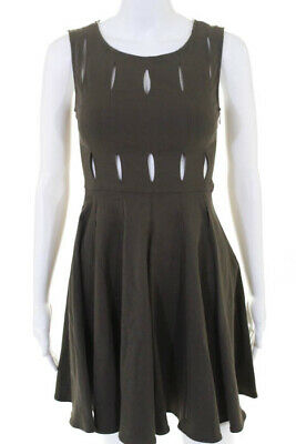 5da1174d Opening Ceremony Green Cotton Crew Neck Sleeveless A Line Dress Size Extra  Small