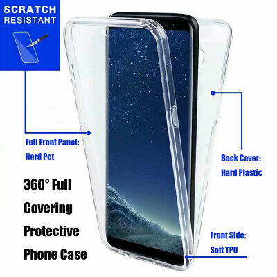 360° Transparent Full Covering Protective Phone Case for Huawei P30 Pro P30 Lite