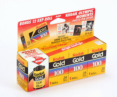KODAK 35MM GOLD 100 THREE PACK, 24 EXP, PLUS A 12 EXP ROLL (READ)/cks/200289