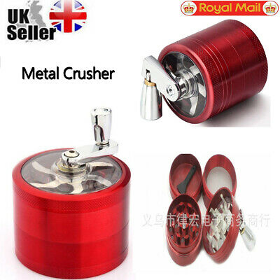 1PCS Red 4-Layers Herb Grinder Spice Tobacco/Weed Smoke Metal Crusher Leaf