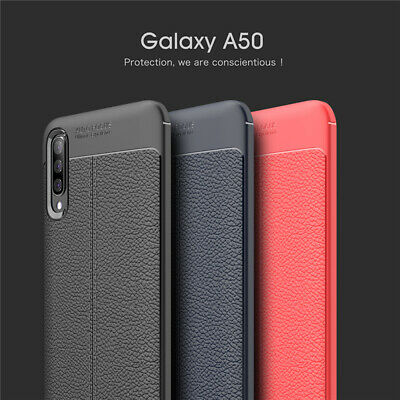 For Samsung A50 A30 A70 Luxury Ultra Slim Leather Silicone Anti-Shock Case Cover
